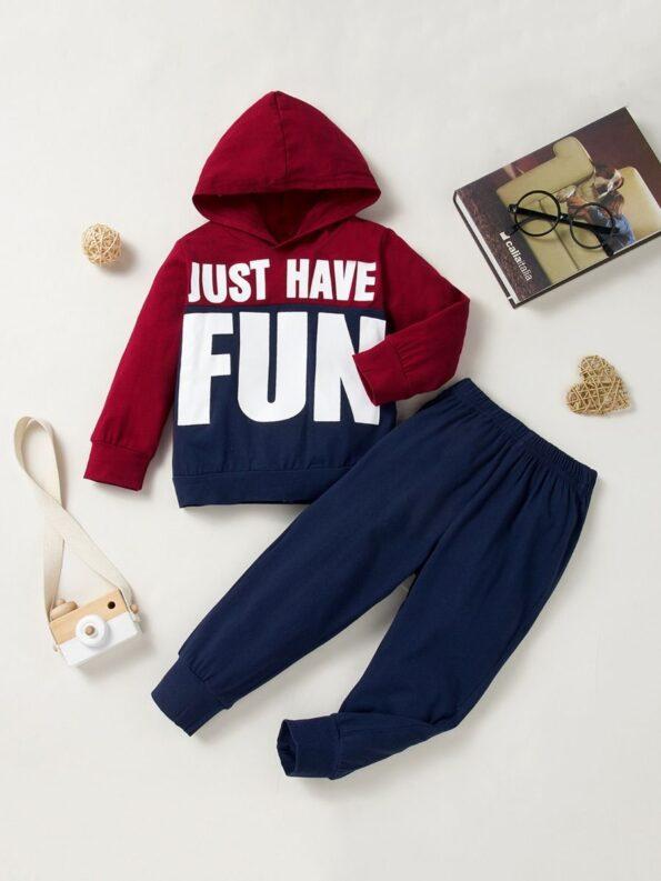Just Have Fun Hi Color Hoodie And Pants Kid Boys Sets Wholesale Boy Boutique Clothes Wholesale 9