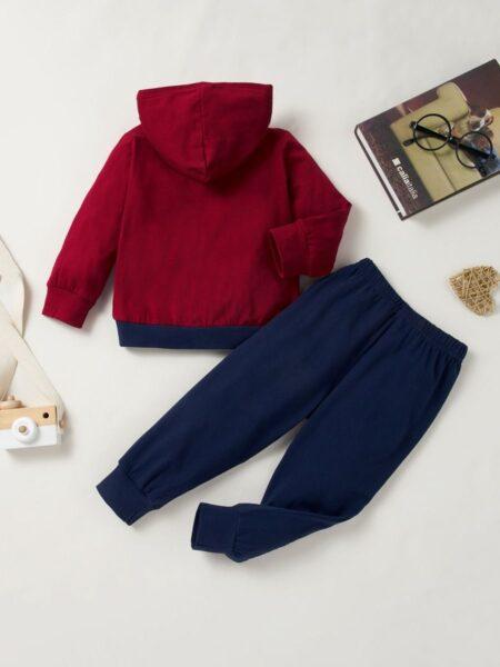 Just Have Fun Hi Color Hoodie And Pants Kid Boys Sets Wholesale Boy Boutique Clothes Wholesale 2