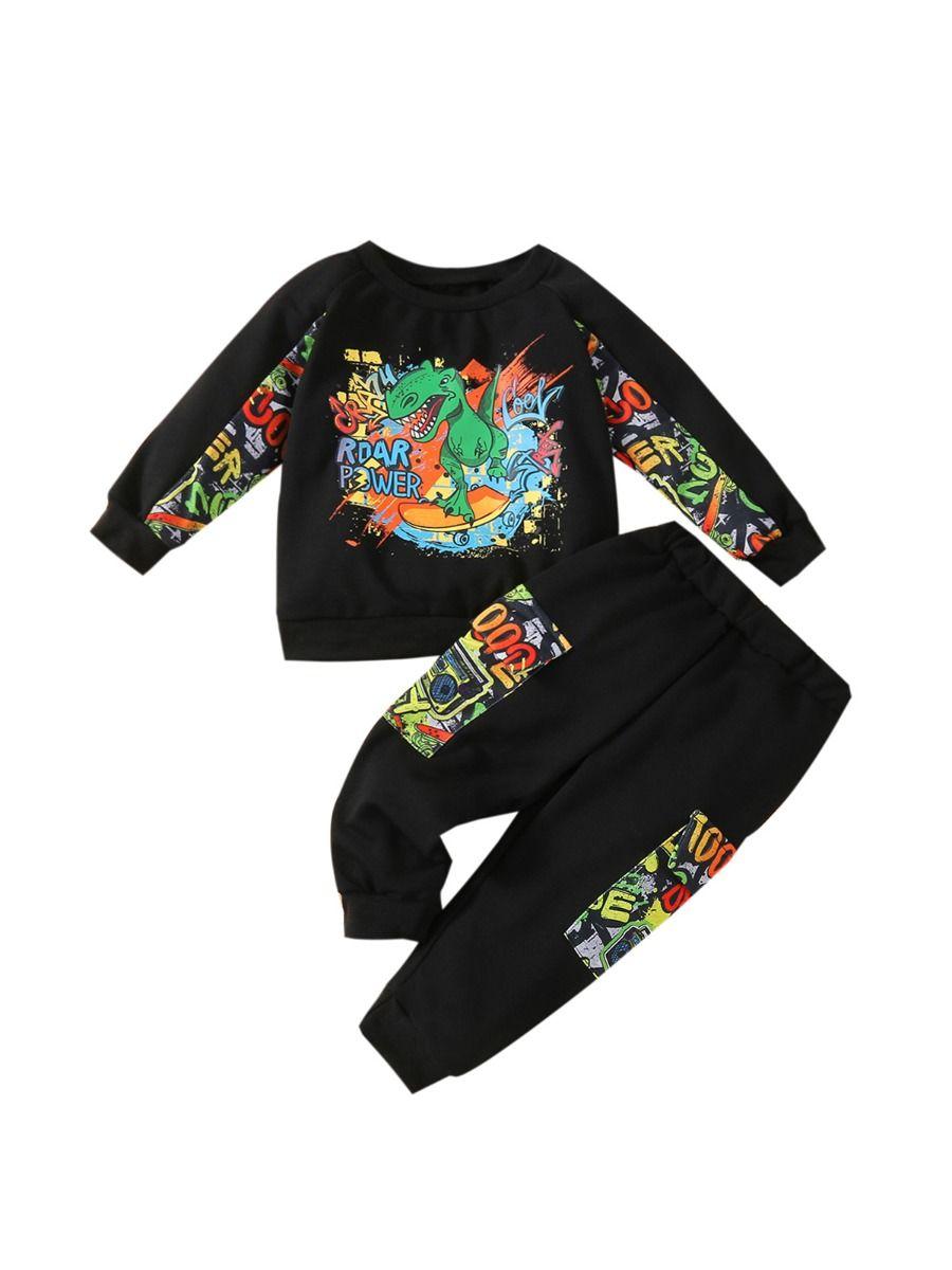 Just Have Fun Hi Color Hoodie And Pants Kid Boys Sets Wholesale Boy Boutique Clothes Wholesale 14