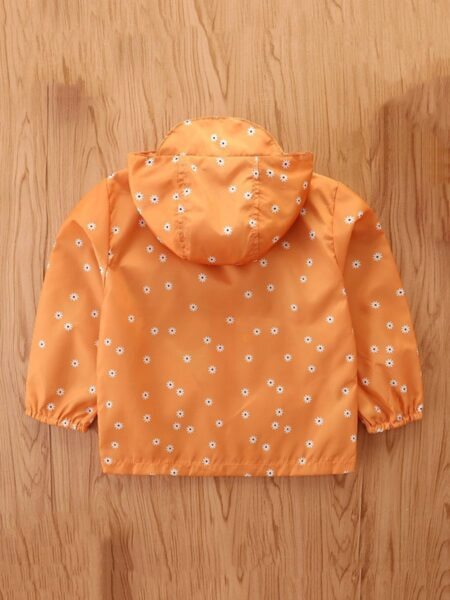 Floral Button Zip Up Hooded Jacket For Girls Wholesale Girls Clothes  Wholesale 2