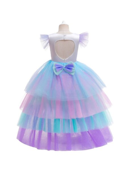 Big Girl Clothing Unicorn Star Rainbow Mesh Party Dresses For Girl 2-6Years, 6-12Years Spring Summer  Wholesale 2