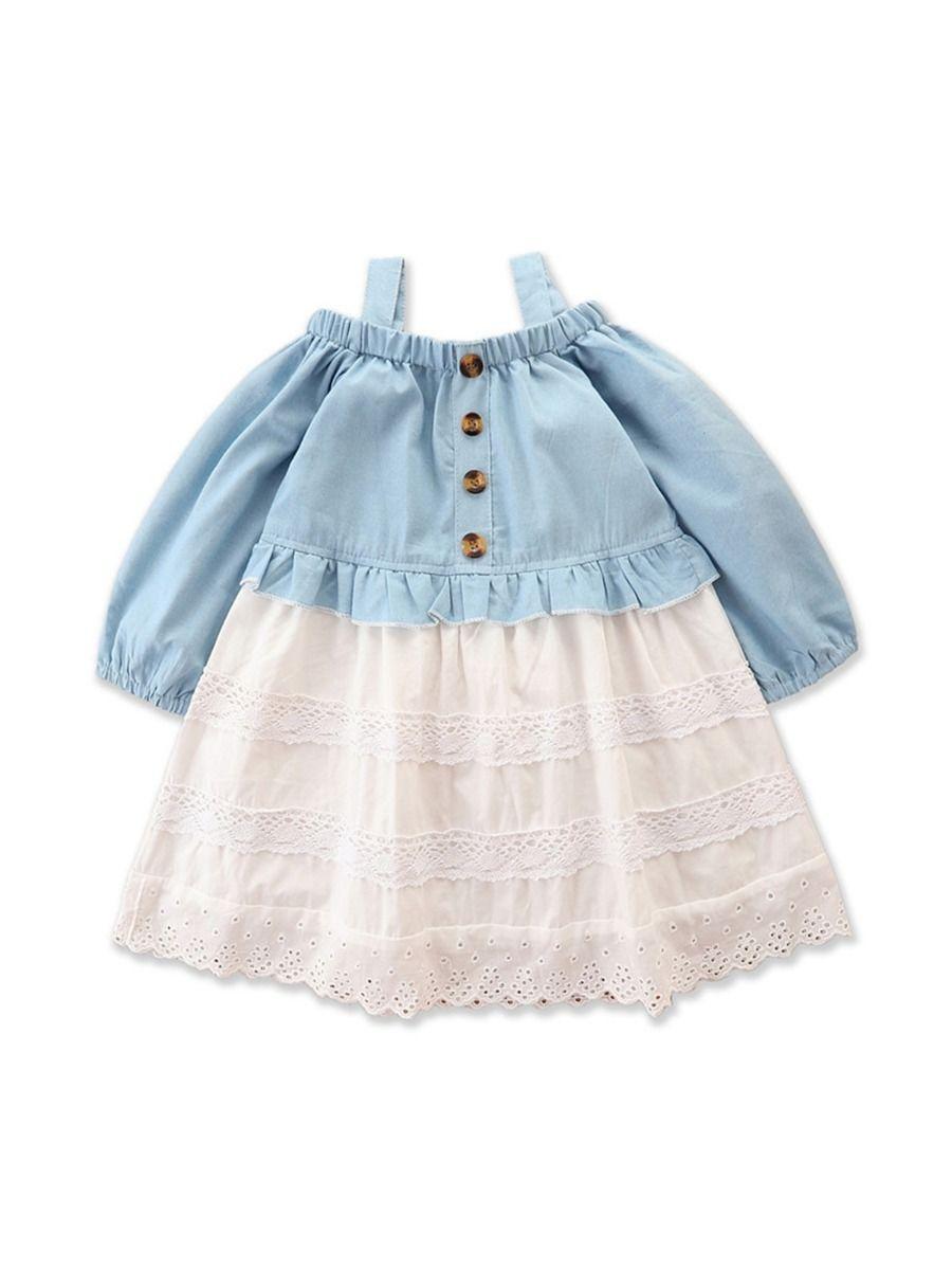 Denim Lace Cami Dresses For Girl Wholesale Girls Fashion Clothes  Wholesale