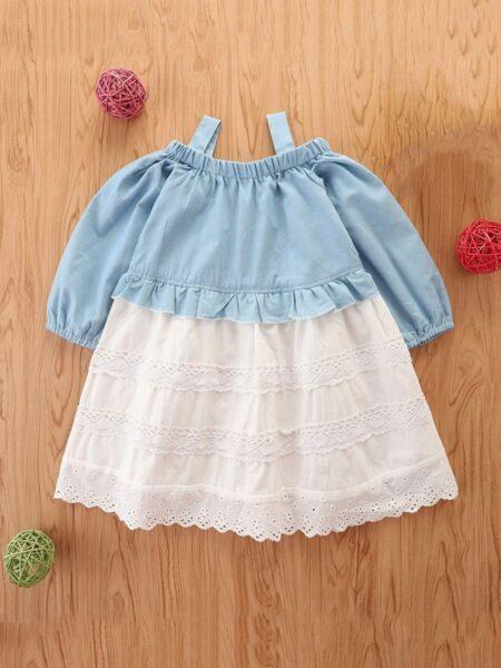 Denim Lace Cami Dresses For Girl Wholesale Girls Fashion Clothes  Wholesale 2