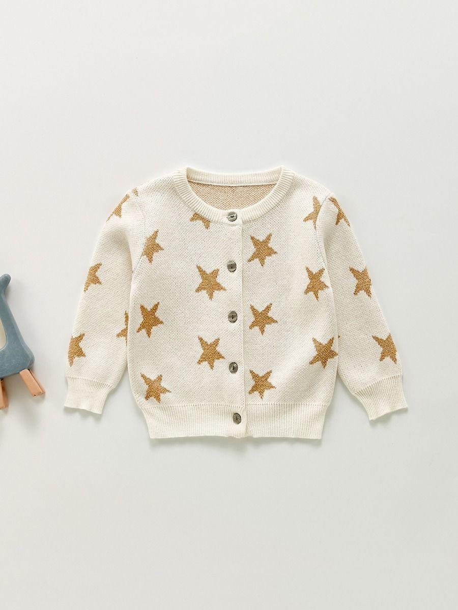Star Knitting Baby Girl Cardigan Wholesale Baby Clothing  Wholesale