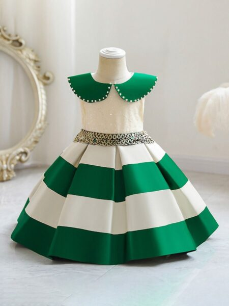 Color Blocking Sequins Party Dress For Kid Girl Wholesale Girls Clothes Wholesale 2