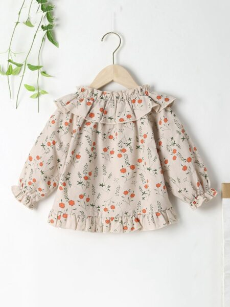 Baby Girl Floral Print Ruffle Trim Blouse Wholesale Baby Clothing  Wholesale BABIES 2021-09-14
