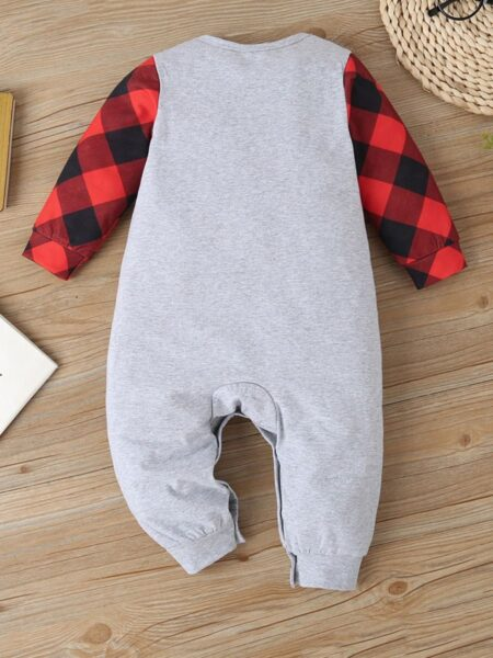 Baby Boy Little Miss Sassy Pants Checked Print Jumpsuit Wholesale Baby Clothes  Wholesale BABIES 2021-09-14