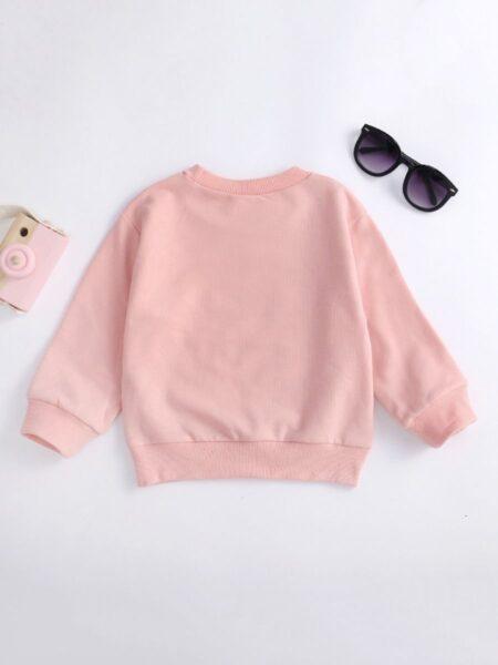 RAINBOWS MAKE ME SMILE Letter Print Girl Sweatshirt Wholesale Baby Clothes, 3-24Months, Letters, Rainbow, Printed, Cotton Blend, Autumn Winter, Wholesale 2