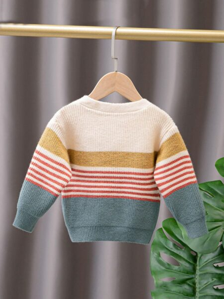 5-Pack Toddler Boys Knitted Cardigans Striped Pattern  Wholesale