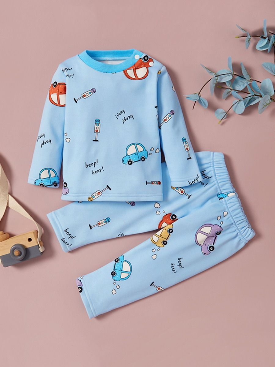 Rainbow Unicorn Car Toddler Girl Sleepwear Sets  Wholesale